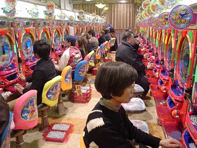 Japanese pachinko parlour