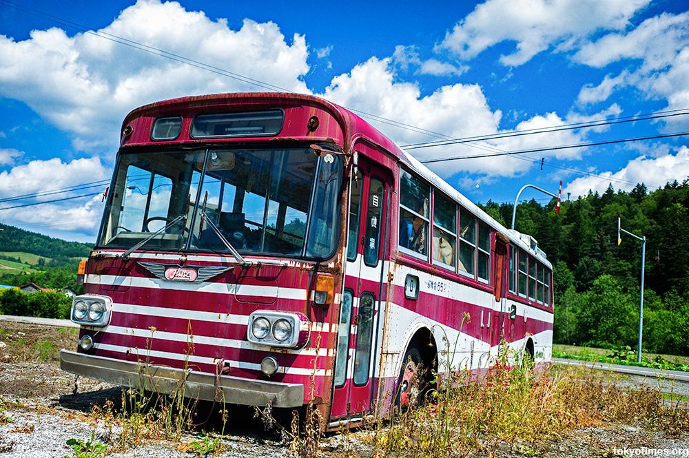 Abandoned Japanese buses