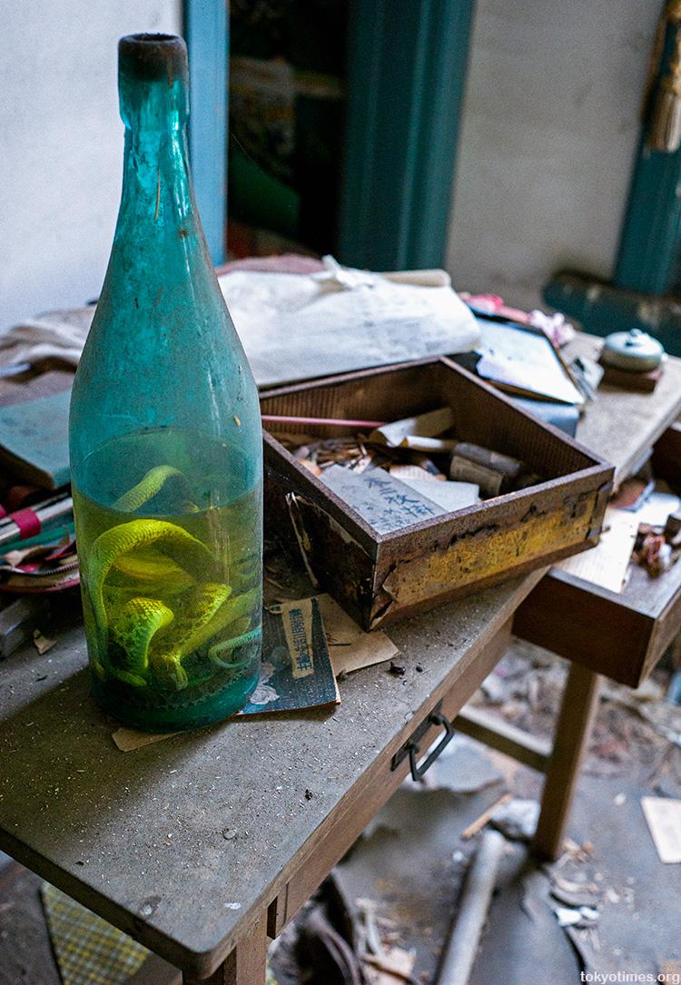 abandoned Japanese villa