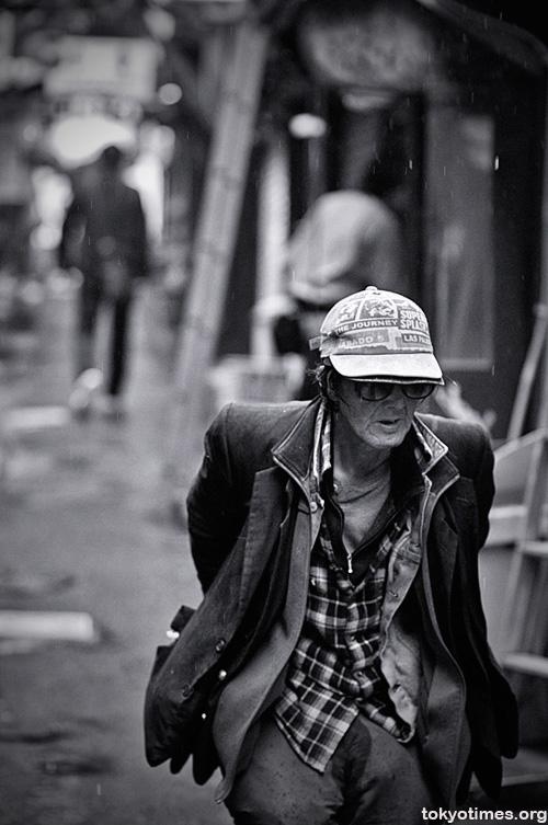 Tokyo homeless man in Shinjuku