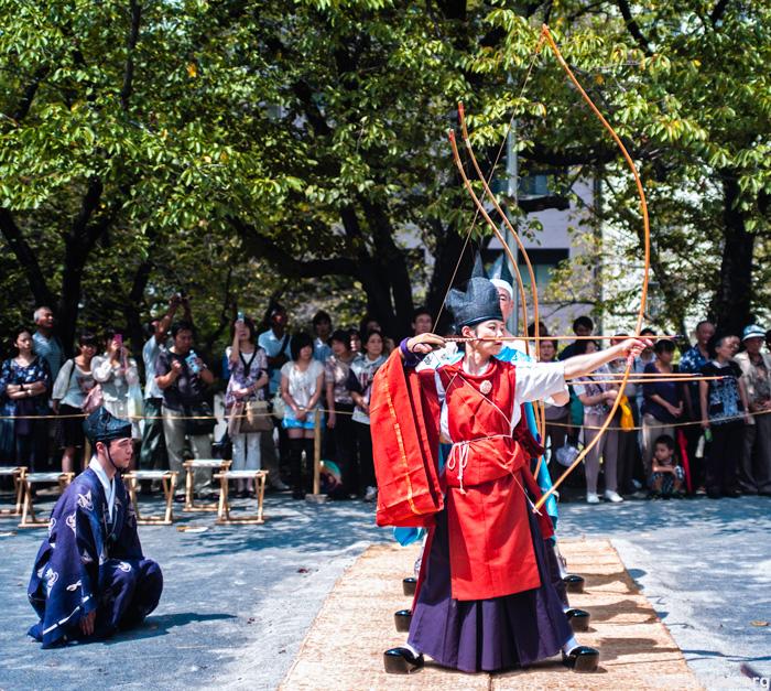 ancient Japanese archery kimono