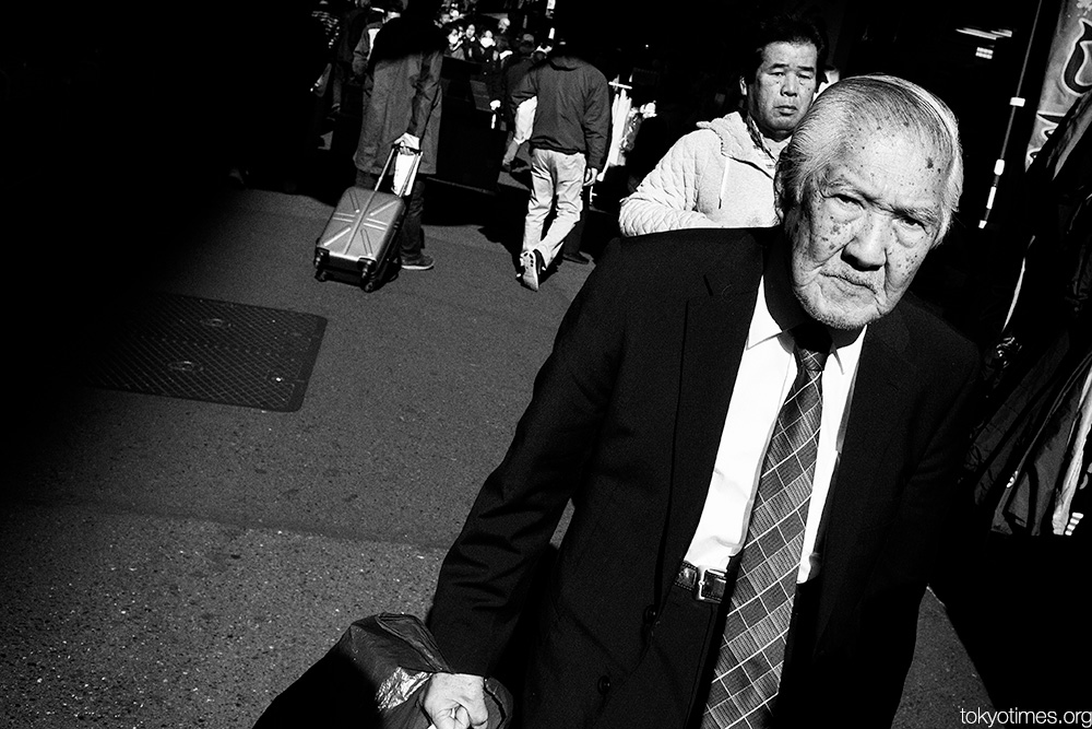 anger on the streets of Tokyo