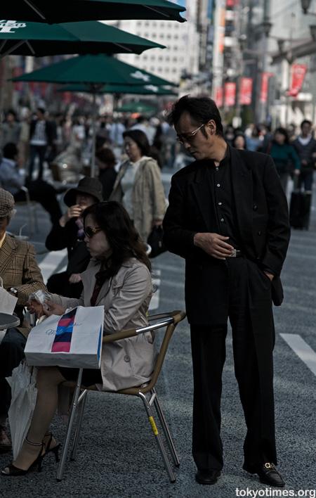 Japanese couple shopping