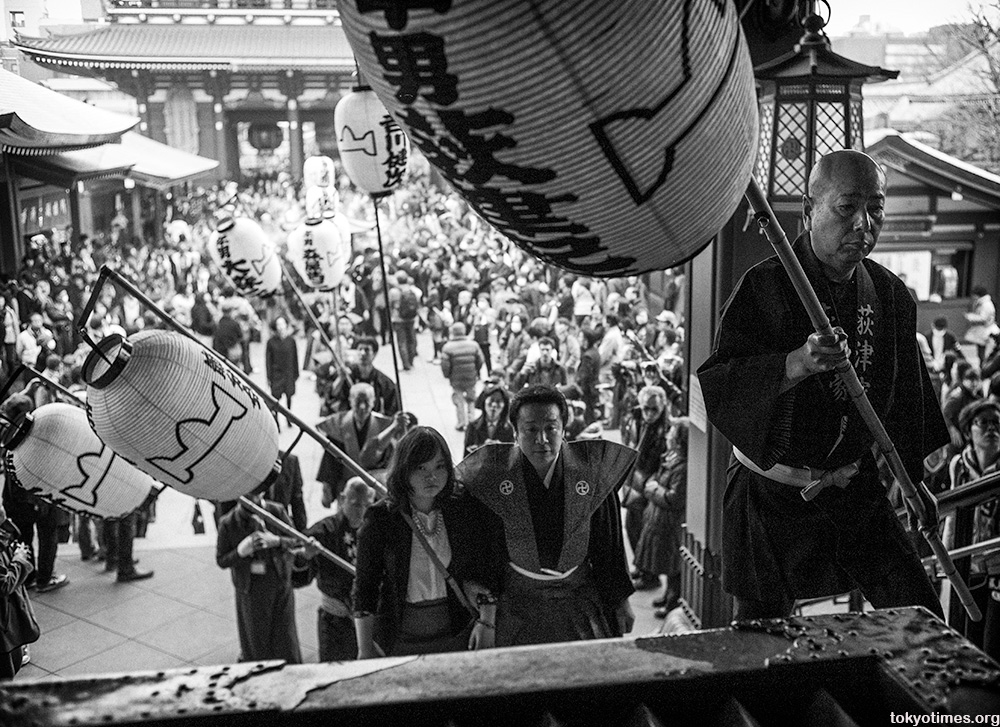 Asakusa setsubun lantern procession
