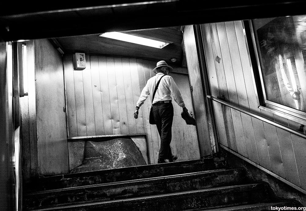dirty Tokyo subway entrance
