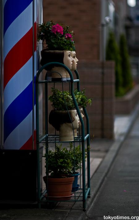 Japanese barber mannequin