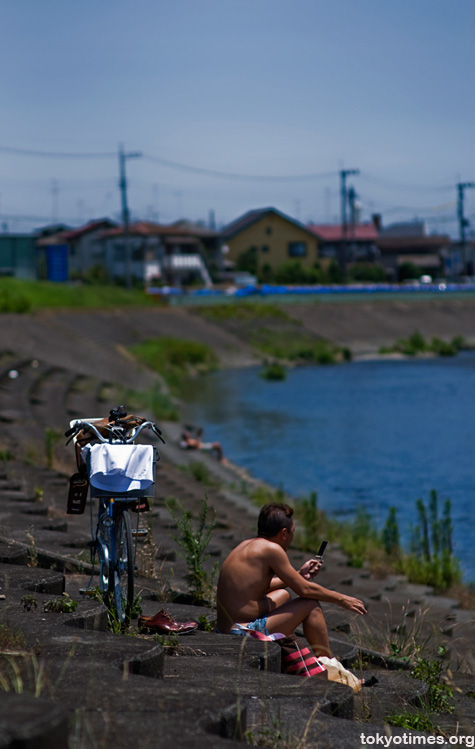 Tokyo river bank