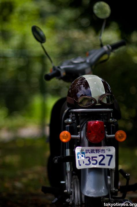 Japanese motorbike helmet