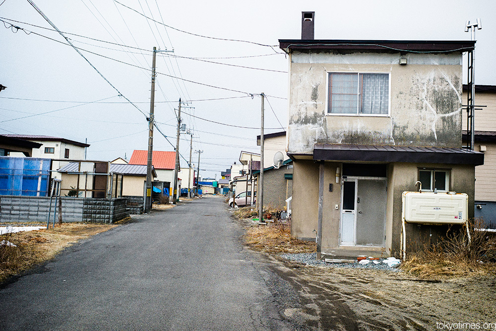 bleak Japanese coast