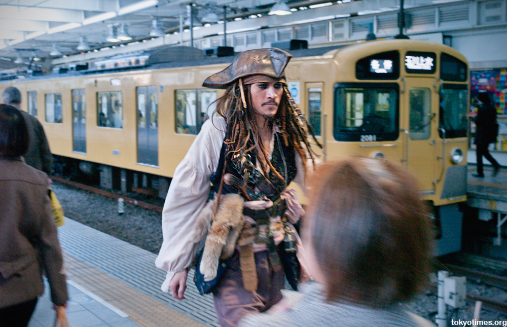 Captain Jack Sparrow in Tokyo, Japan