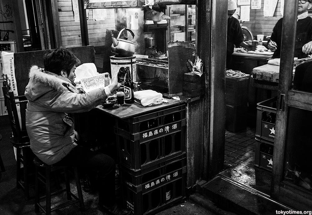 old cheap and basic tokyo bar