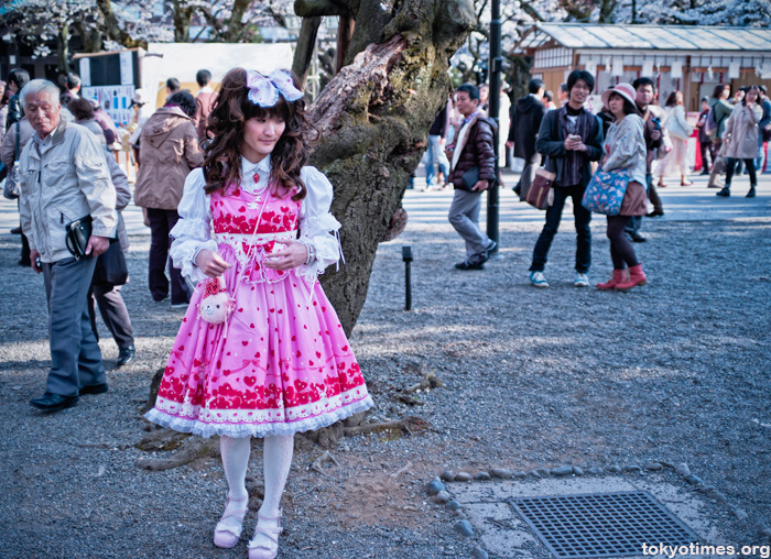 cherry blossom cosplay