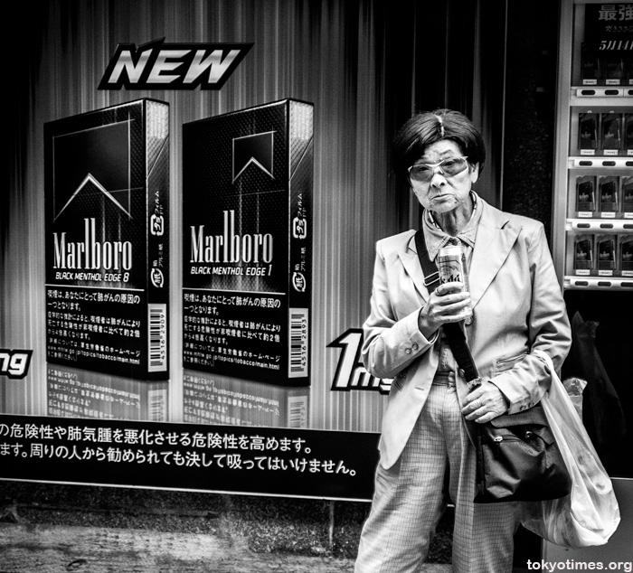 Tokyo street drinker