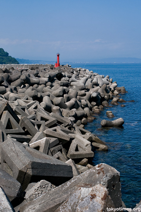 Japan's concrete coastline