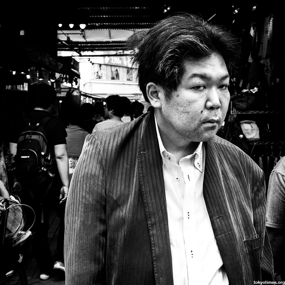 disheveled Japanese man in Ueno
