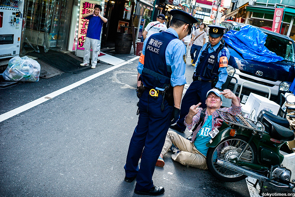 Gritty, drunk and aggressive Tokyo