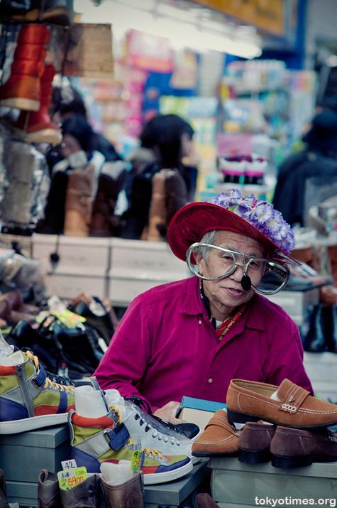 eccentric Japanese shopkeeper
