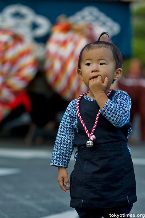 Japanese festival child