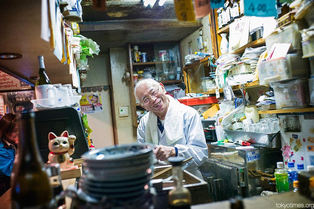 Filthy and tiny Tokyo bar