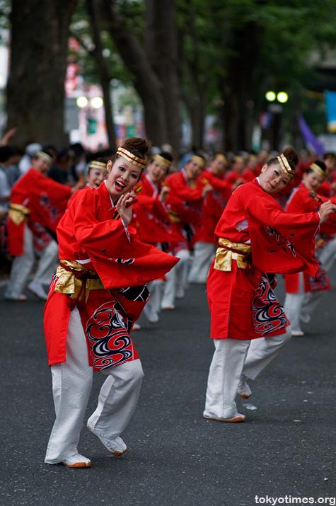 Japanese festival dancing