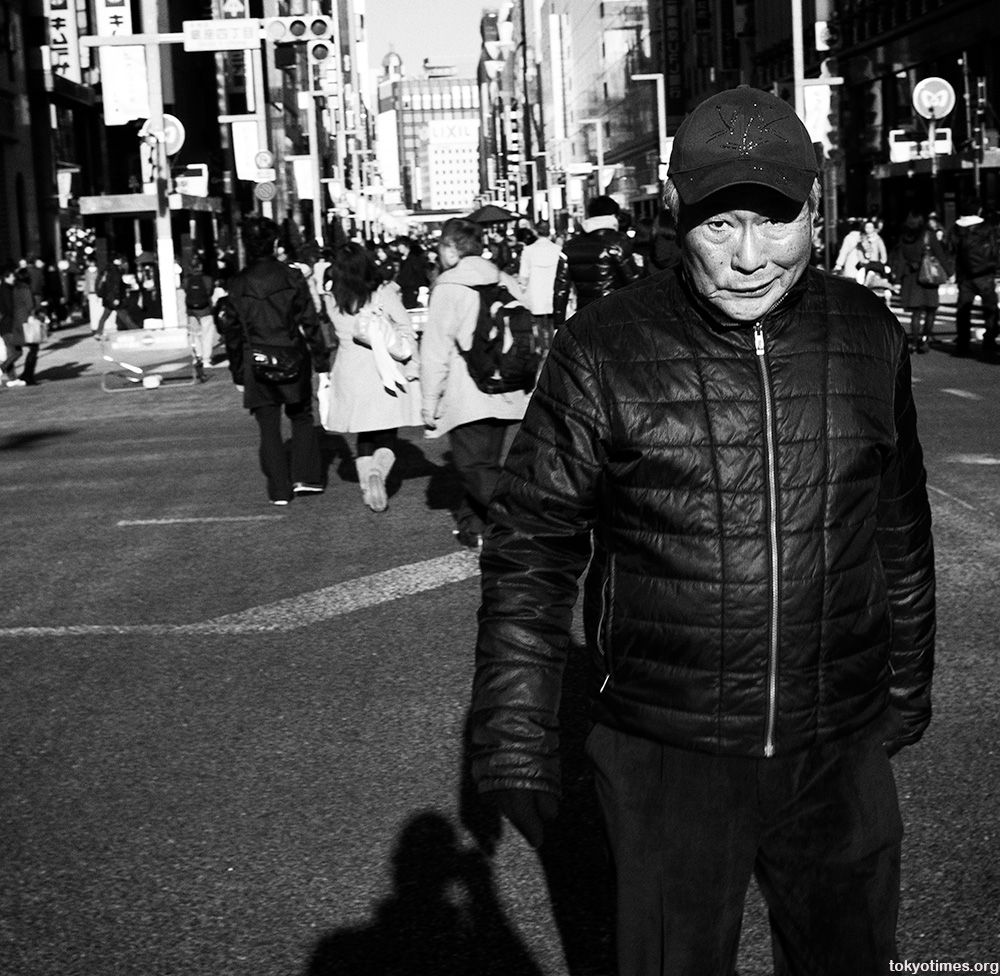 Japanese man in Ginza