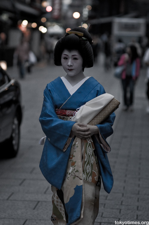 Japanese geisha in Kyoto