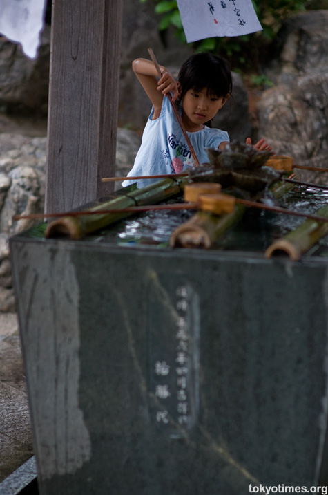 Japanese temple cleansing