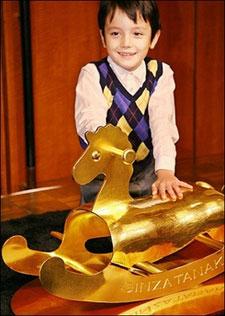 gold rocking horse