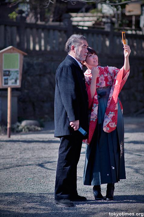Japanese graduation kimono