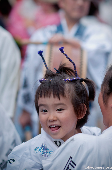 happy Japanese festival girl