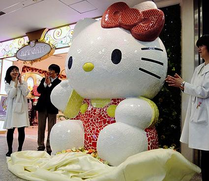 Hello Kitty statue