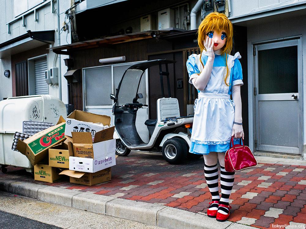 Japanese anime head cosplay animegao