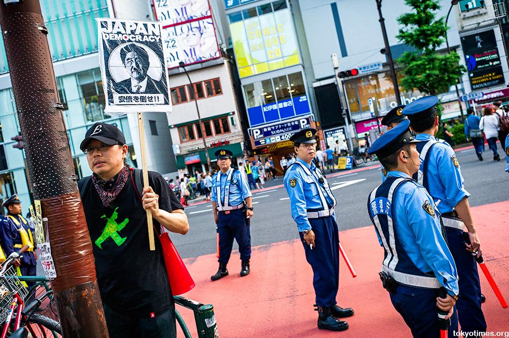 Tokyo anti-Abe protesters