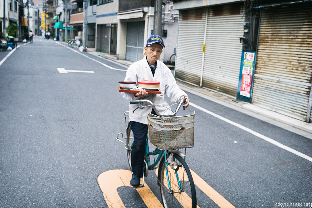 Japanese food delivered by bicycle