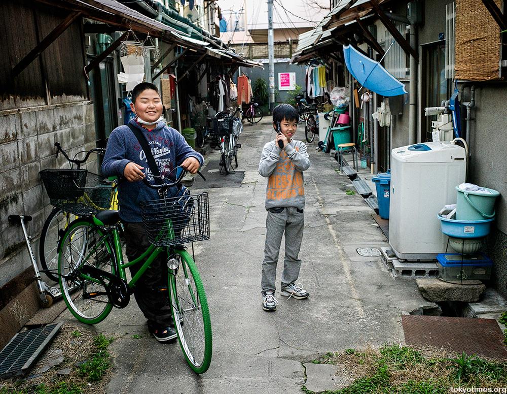 Japanese city kids in Osaka