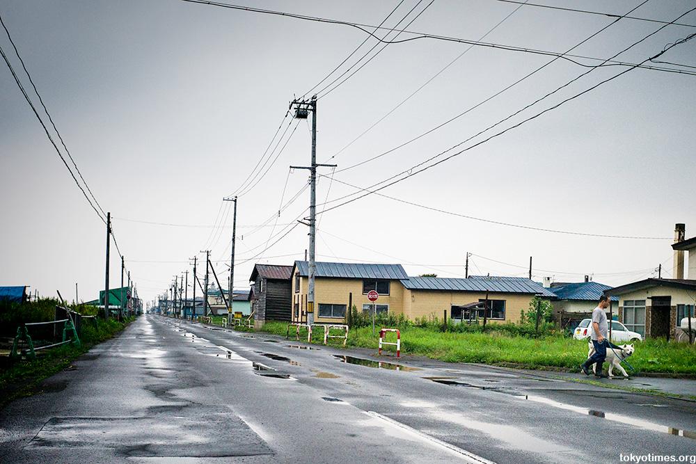 quiet Japanese coastal town