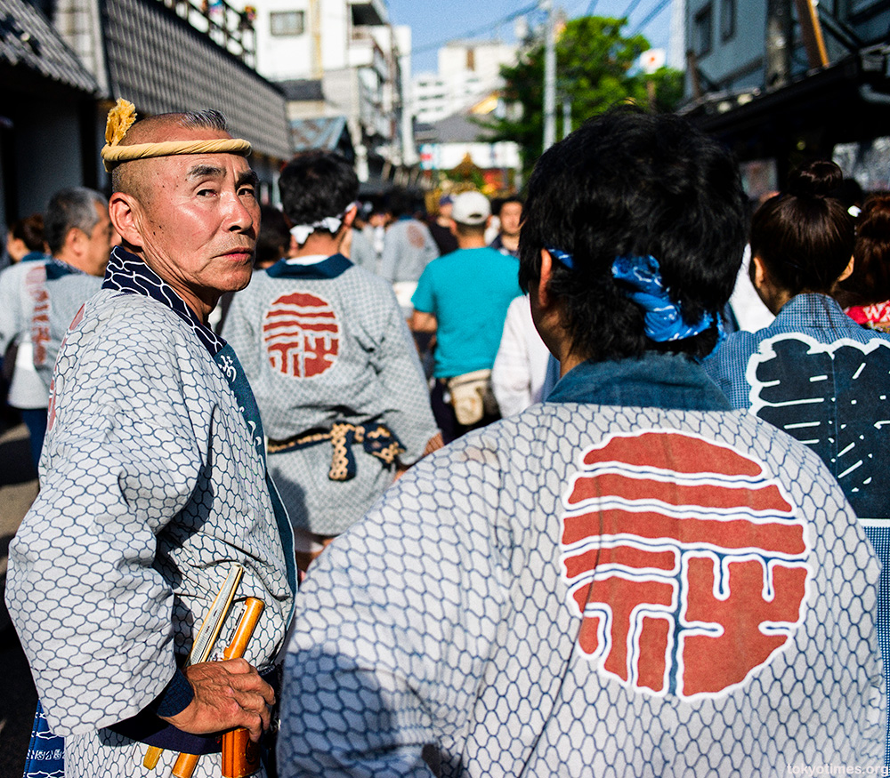 old Japanese festival man