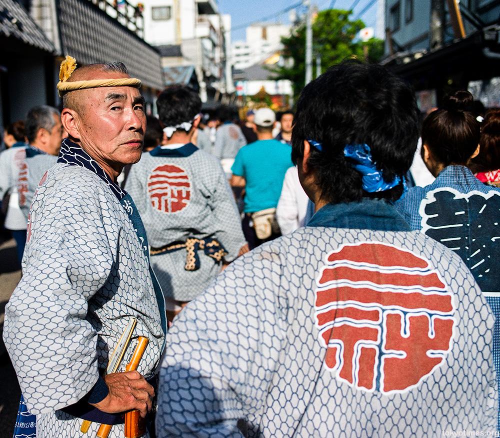old Japanese festival man
