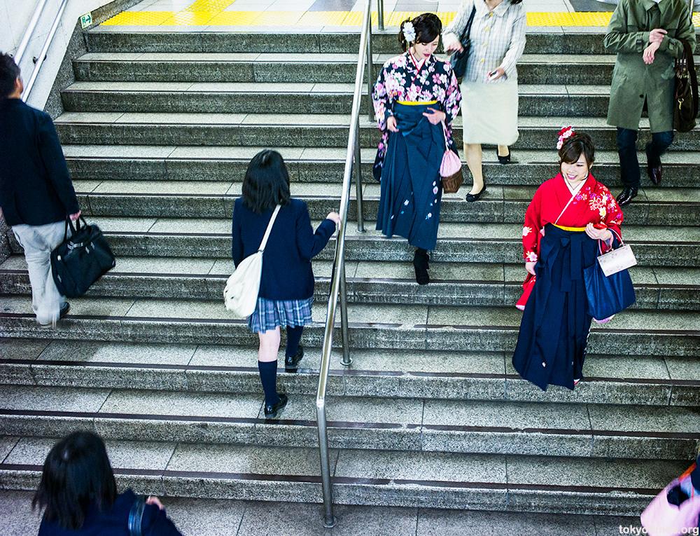 Japanese graduation kimono or hakama