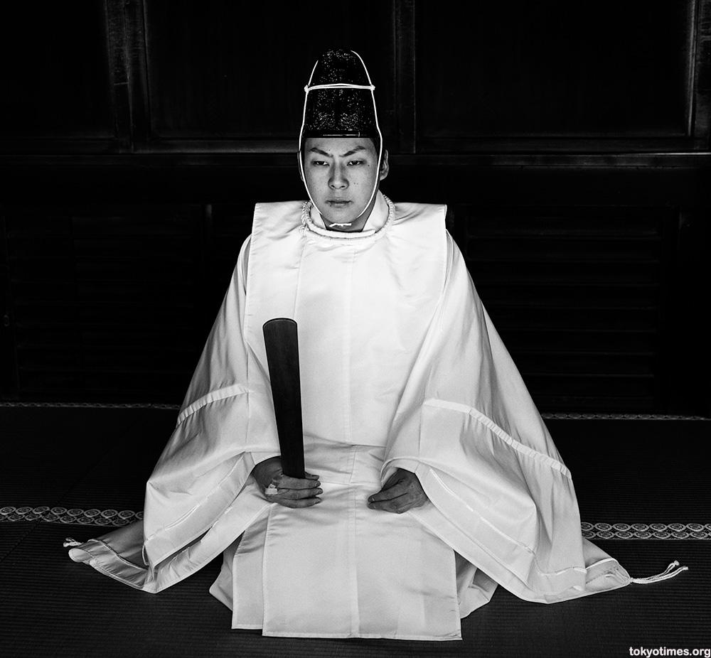 Japanese shinto priest