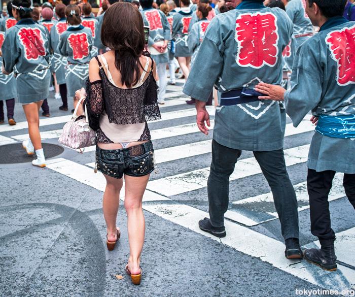 Japanese woman wearing a thong