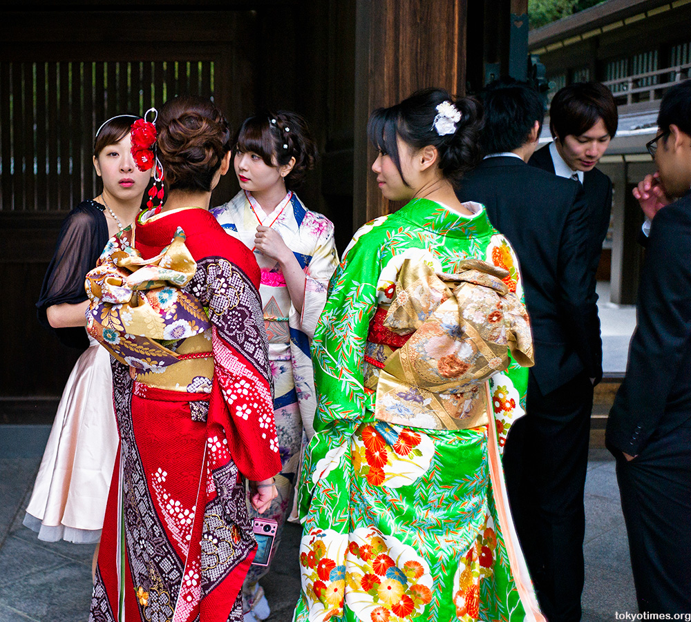 Traditional Japanese wedding kimonos