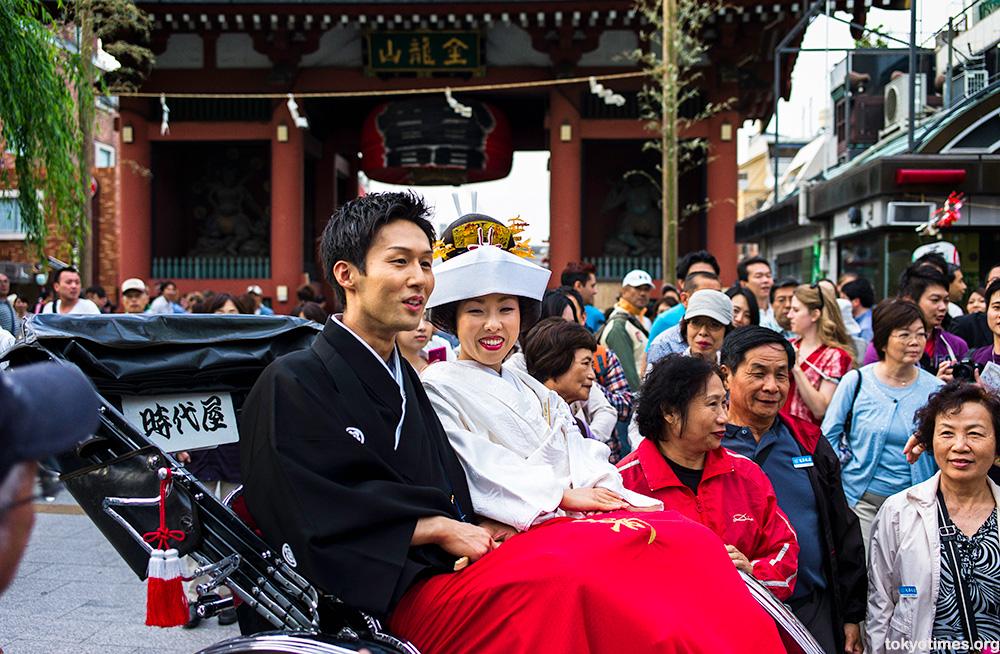 Japanese newlyweds