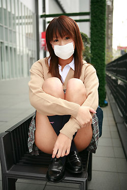 Japanese high school girl