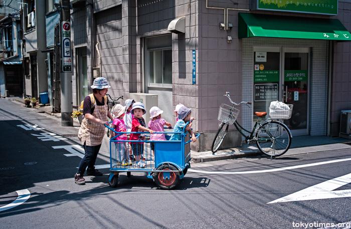Japanese kindergarten kids cart