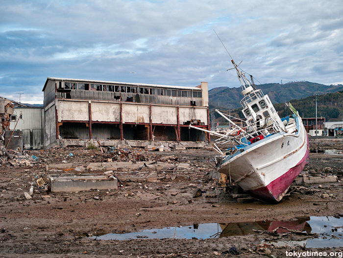 Tohoku tsunami damage in Kesennuma and Rikuzentakata