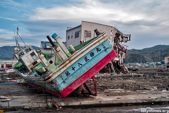 Tohoku tsunami damage in Kesennuma and Rikuzentakata
