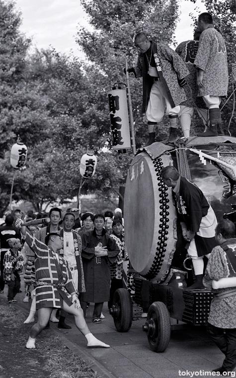 Japanese festival taiko drum