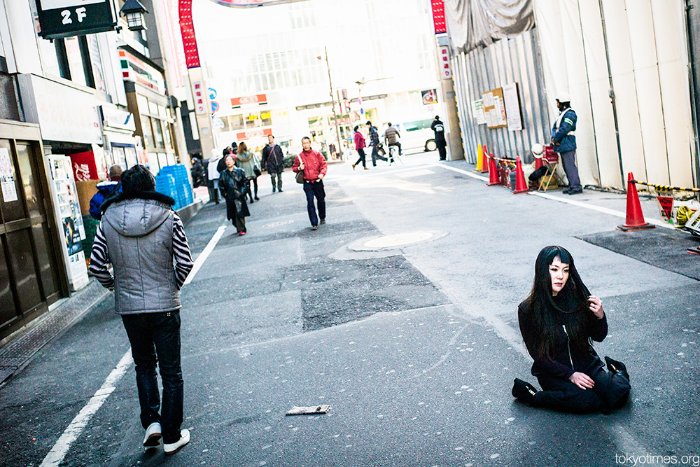 Lost and lonely Japanese girl