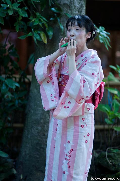 ocarina and kimono